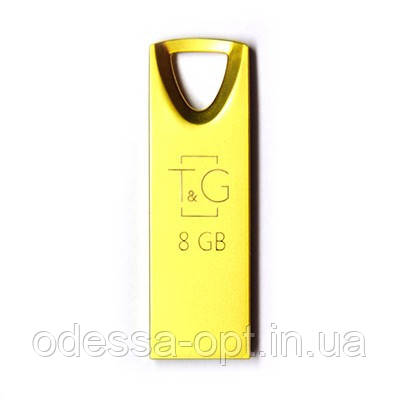Накопичувач USB 8GB T&G металева серія 117 золото, фото 2