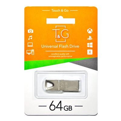 Накопичувач USB 64GB T&G металева серія 117 срібло