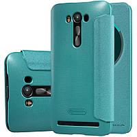 Кожаный чехол Nillkin Sparkle для Asus Zenfone 2 Laser ZE550KL голубой, фото 1