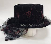 Карнавальний капелюх на Хеллоуїн з вуаллю