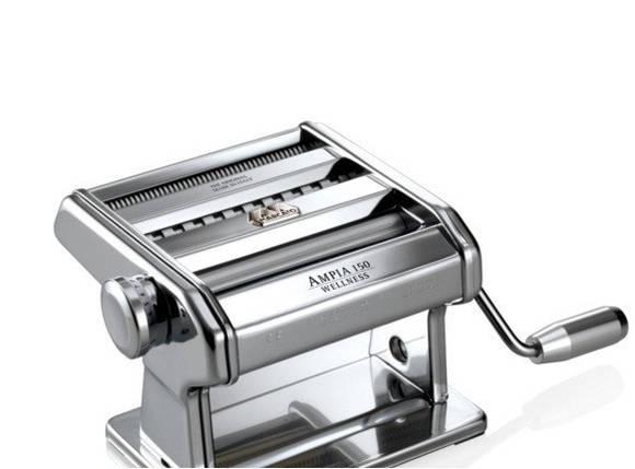Машинка для раскатки теста + лапшерезка Marcato Ampia 150 mm, фото 2