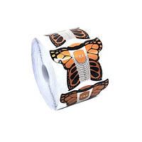 Формы для наращивания ногтей (бабочка/золото)