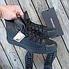 Мужские высокие кеды конверсы all star converse кожаные черные деми демисезон, фото 6