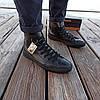 Мужские высокие кеды конверсы all star converse кожаные черные деми демисезон, фото 2