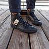 Мужские высокие кеды конверсы all star converse кожаные черные деми демисезон, фото 5