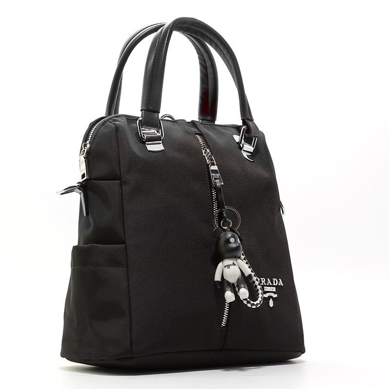 Рюкзак сумка городской текстильный черный Prada 1721