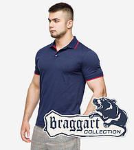 Braggart | Рубашка поло мужская 6093 т.синий-красный