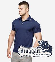 Braggart | Мужская рубашка поло 6093 т.синий-серый