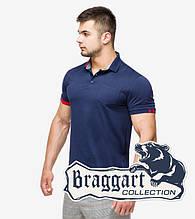 Braggart | Рубашка поло мужская 6073 т.синий-красный