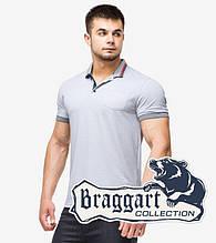 Braggart | Футболка мужская поло 6422 серый