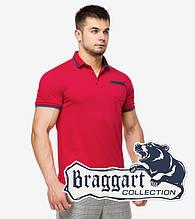 Braggart | Футболка мужская поло 6694 красный