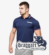 Braggart | Мужская футболка поло 6694 т.синий-красный