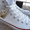 Мужские высокие кеды конверсы all star converse кожаные Белые деми демисезон, фото 4