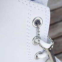 Мужские высокие кеды конверсы all star converse кожаные Белые деми демисезон, фото 2
