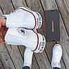 Мужские высокие кеды конверсы all star converse кожаные Белые деми демисезон, фото 5