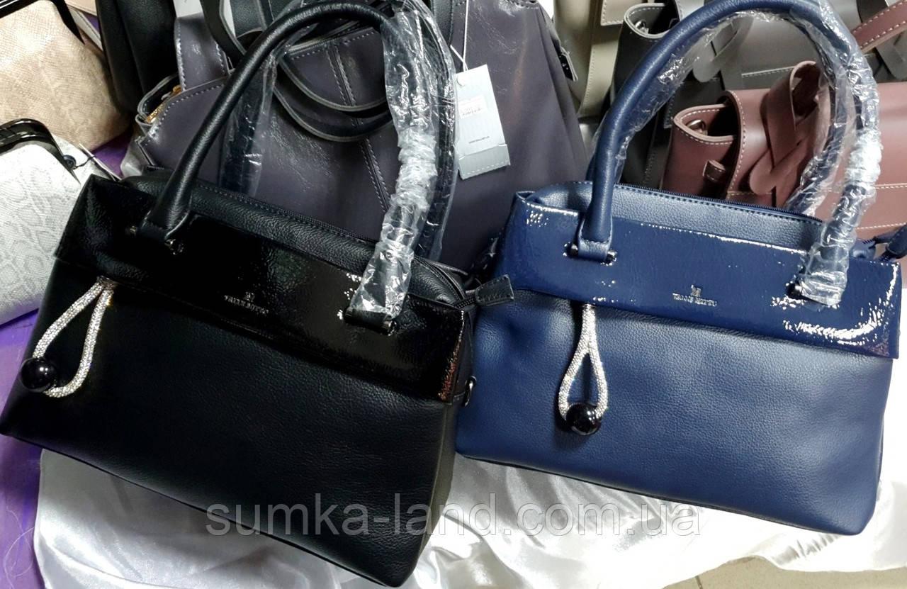 Жіночі сумки Преміум класу з ремінцем на плече 31*20 см (чорна і синя)
