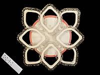 Потолочная светодиодная люстра в спальню димерная цвет бело-черный 80W Diasha&QX2522/4+4S BK LED 3color dimmer