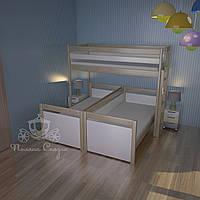 Независимые кровати со спинкой из ясеня для троих деток!