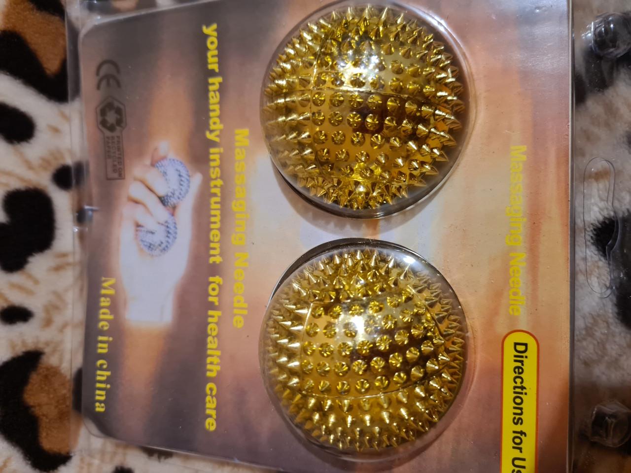 Су Джок шарики 2шт 4.7см  Магнитные шарики для массажа рук