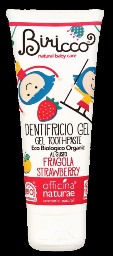 Детская органическая зубная паста Officina Naturae с клубничным вкусомч 75 мл