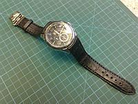 Ремешок из кожи Теленка с принтом Крокодила для часов Citizen Eco-Drive