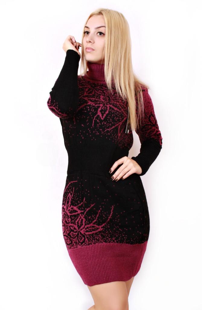 b25c604b1d1db43 Вязаное платье большого размера Цветы 595 р 48-58: продажа, цена в ...