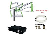 Комплект для просмотра Т2 тюнер Т2 World Vision T65M + антенна Т2 World Vision Maxima L + кабель 15м.