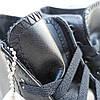 Жіночі високі кеди конверси converse all star шкіряні чорні демі демисезон, фото 3