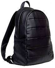 Мужской рюкзак черный городской, для ноутбука 15,6 матовая экокожа (качественный кожзам)
