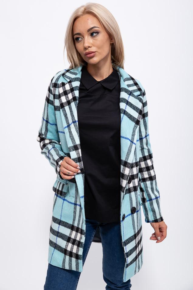 Пальто женское 153R624 цвет Голубой