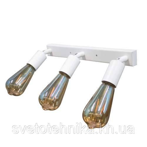 Настенный светильник - бра  NL1222-3 LOFT Е27 белый, с поворотным механизмом.