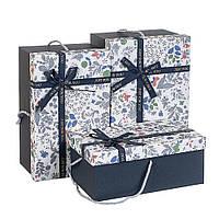 """Стильный подарочные коробки с ручками """"Цветочки"""" 31х20х15 см. 3 шт. в наборе, фото 1"""