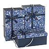 """Стильный подарочные коробки с ручками """"Цветочки"""" 31х20х15 см. 3 шт. в наборе"""