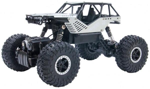 Автомобиль Sulong Toys Off-Road Crawler на ручном управлении – Rock серебристый, металлический корпус 1:18