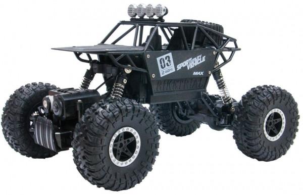 Автомобиль Sulong Toys Off-Road Crawler на ручном управлении – Max Speed матовый чёрный, металлический корпус 1:18