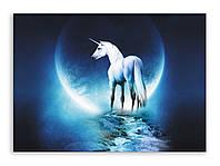 "Картина на холсте ""Белый Единорог"""