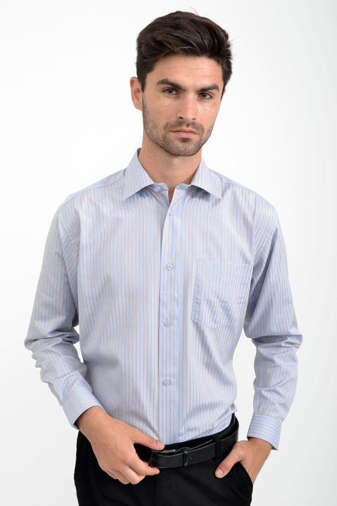 Рубашка 818-93 цвет Серо-голубой