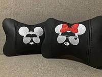 Автоподушка на подголовник Мышка (парные) в салон автомобиля оригинальный подарок