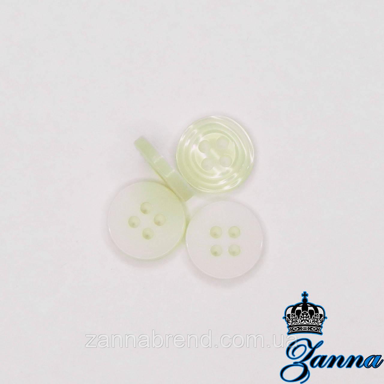 Гудзик (декор) пластикова (18) молочного кольору 10 шт