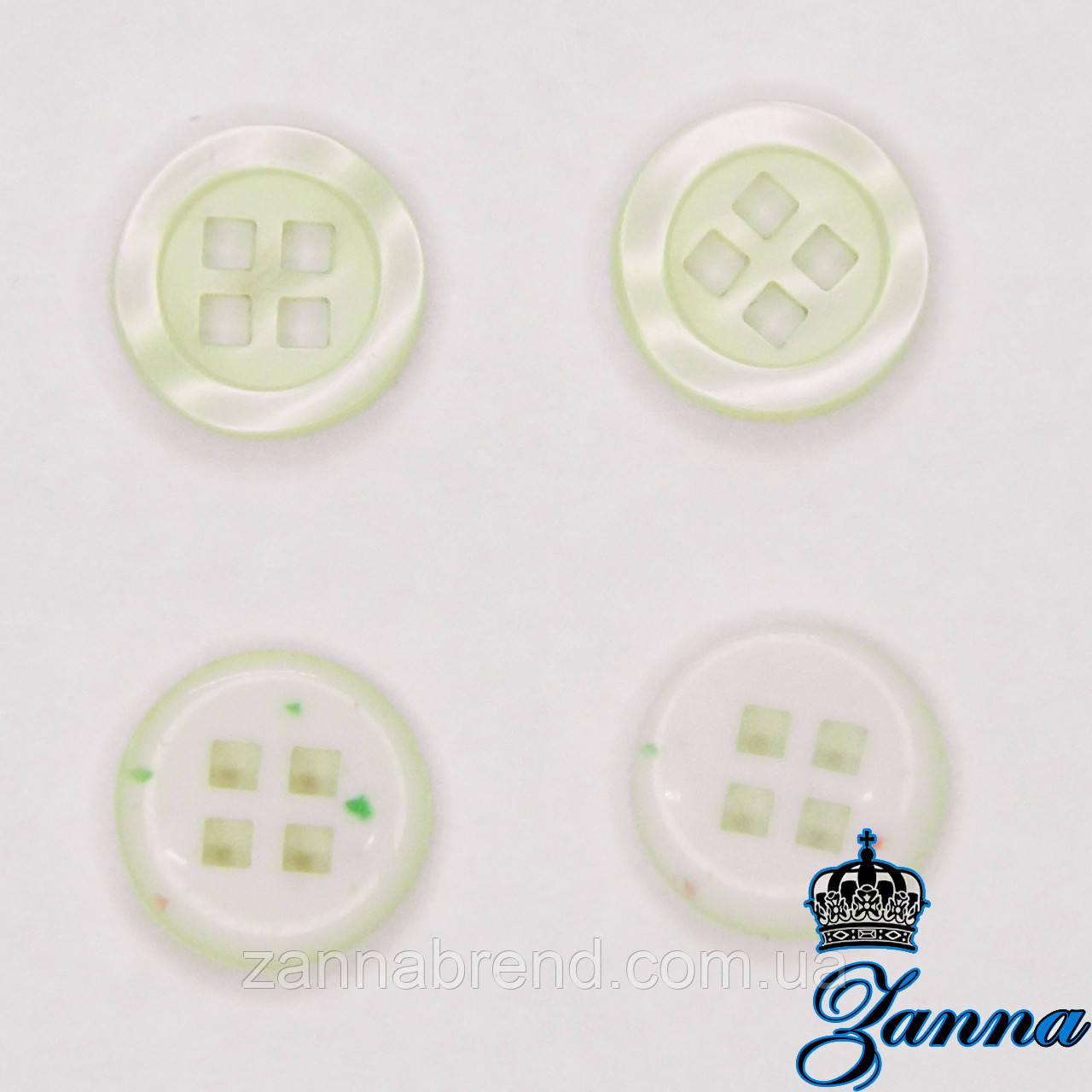 Пуговица (декор) пластиковая (18) молочного цвета 10 шт