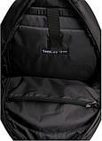 Классический мужской черный рюкзак матовая экокожа (качественный кожзам) деловой, офисный, для ноутбука 15,6, фото 10