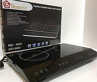 Индукционная плита DOMOTEC MS-5872 на 2 конфорки по 2000 Вт, цвет черный, фото 1