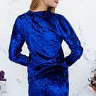 Кофта цвета электрик из набора пижамы женской из мраморного велюра Julia, фото 5