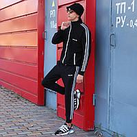 Спортивная кофта мужская Adidas сезон весна/осень черного цвета в стиле Адидас