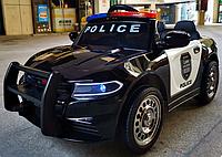 Полицейский электромобиль Dodge Police с рацией и пультом (черный цвет)