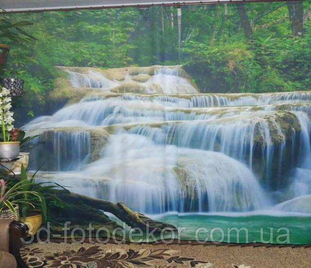 фото шторы с водопадами в интерьере