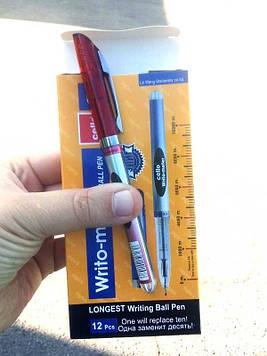 Ручка Writo-meter красная (12шт) 10 километров Flair