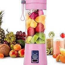 Блендер портативный для смузи и коктейлей Smart Juice Cup Fruits USB 380 мл. РОЗОВЫЙ