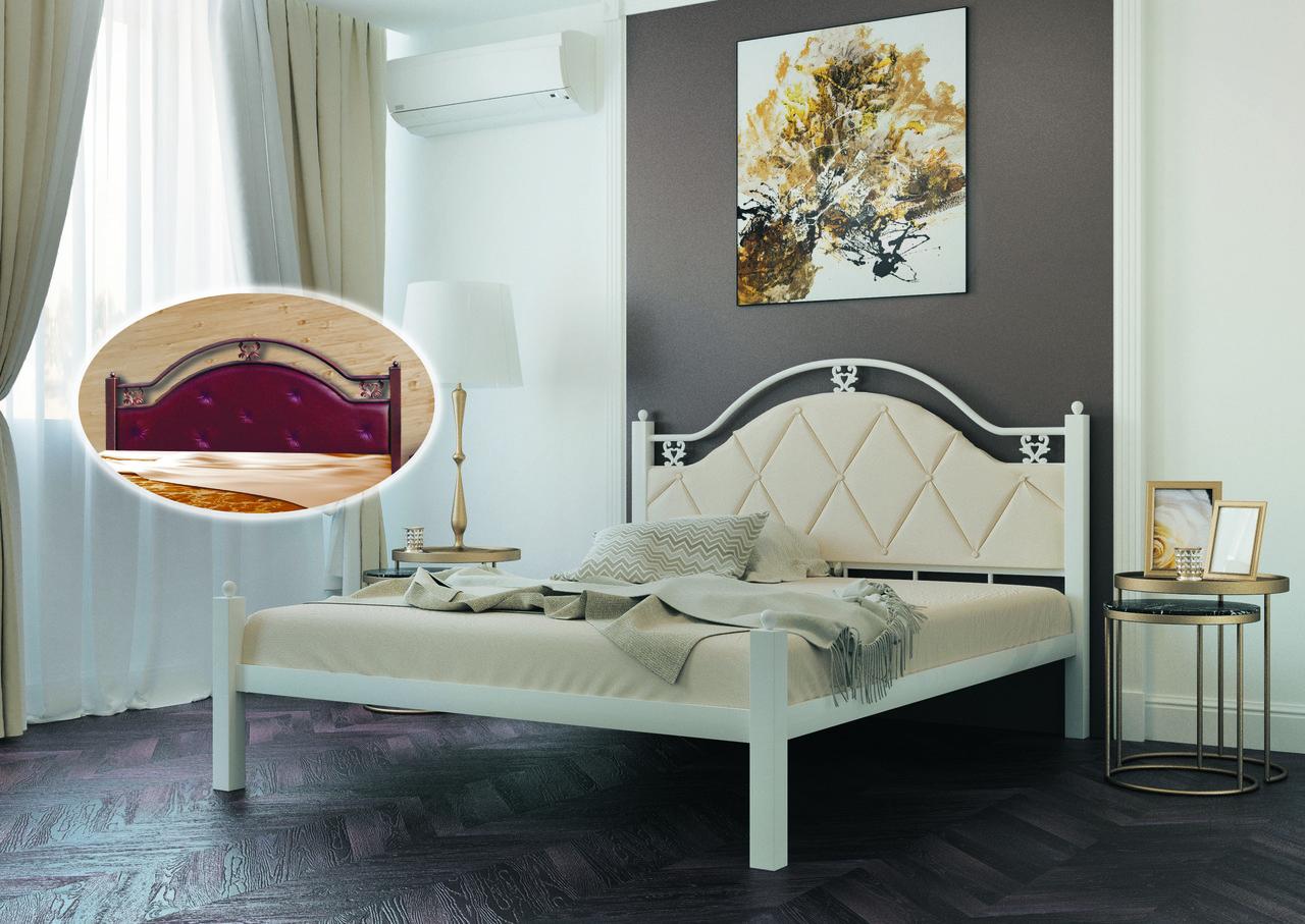 Металлическая кровать Эсмеральда Люкс. ТМ Металл-Дизайн