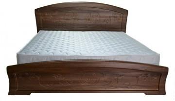 Ліжко двоспальне з ДСП/МДФ в спальню Емілія 160х200 Неман